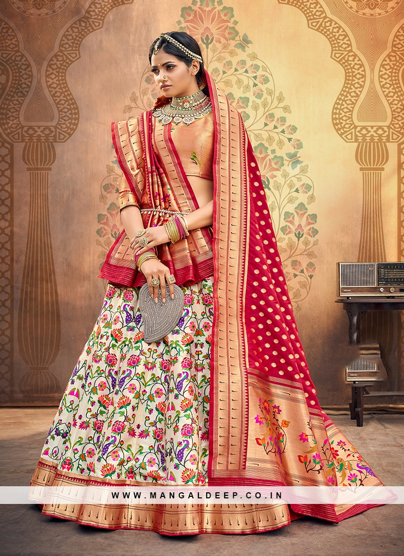 Sangeet Function Wear Off White Color Designer Lehenga Choli