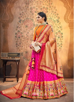 Sangeet Function Wear Pink Color Designer Lehenga Choli
