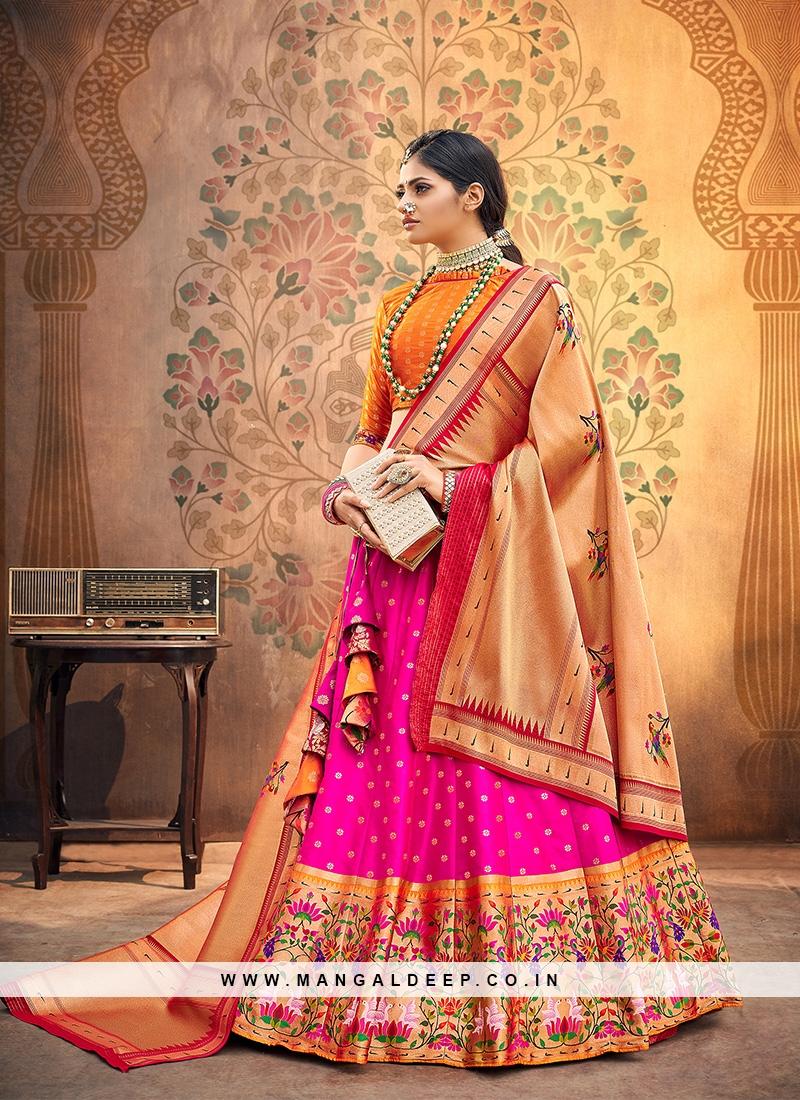 Sangeet Function Wear Pink Color Designer Lehenga Choli
