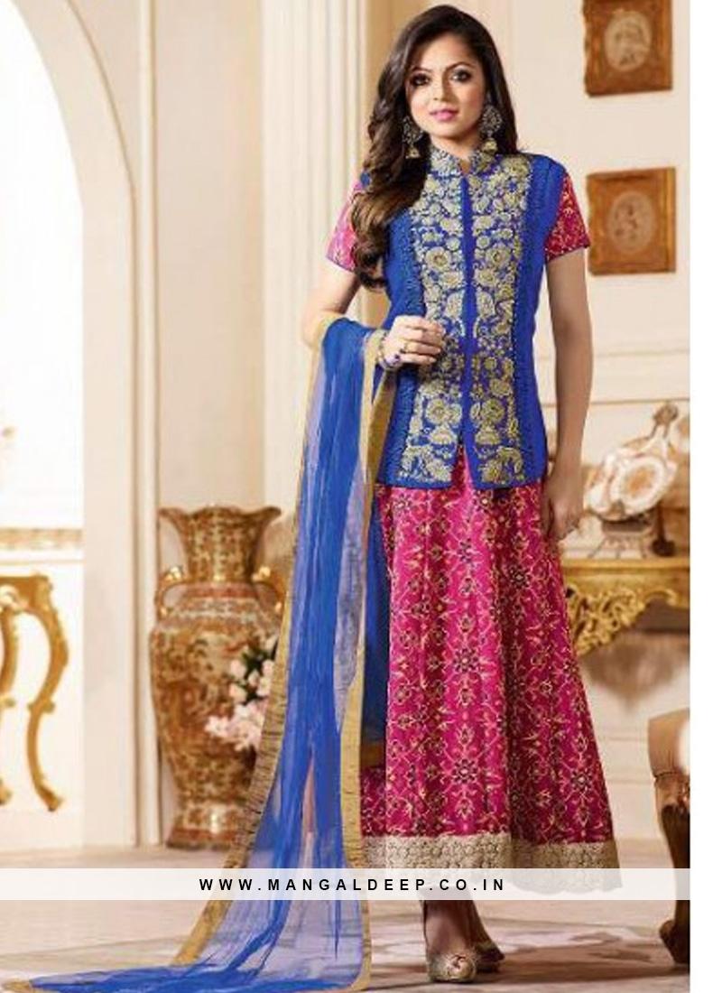 Sangeet Function Wear Pink Color Designer Suit