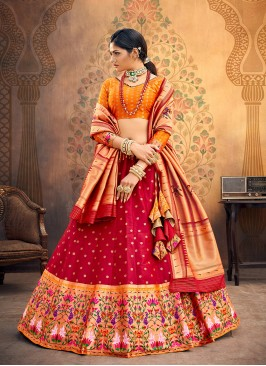 Sangeet Function Wear Red Color Designer Lehenga Choli