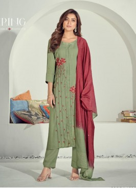 Sea Green Color Cotton Kurti For Girls