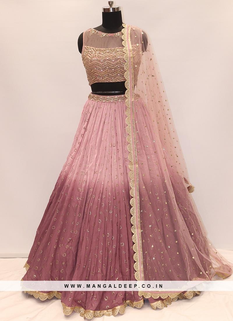 Soothing Pink Color Designer Lehenga Choli
