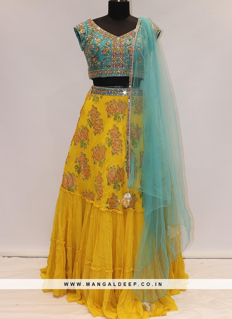 Soothing Yellow Color Designer Lehenga Choli