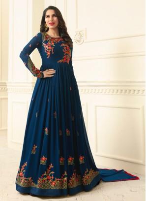 Sophie Chaudhary Blue Stone Work Floor Length Anarkali Suit