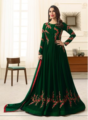 Sophie Chaudhary Green Embroidered Work Floor Length Anarkali Suit