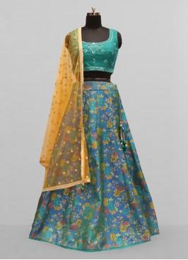 Stunning Blue Color Function Wear Lehenga Choli