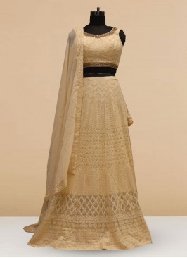 Stunning Cream Color Silk Lehenga Choli
