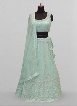 Stunning Green Color Function Wear Lehenga Choli