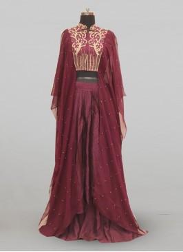 Stunning Maroon Color Festive Wear Designer Lehenga Choli