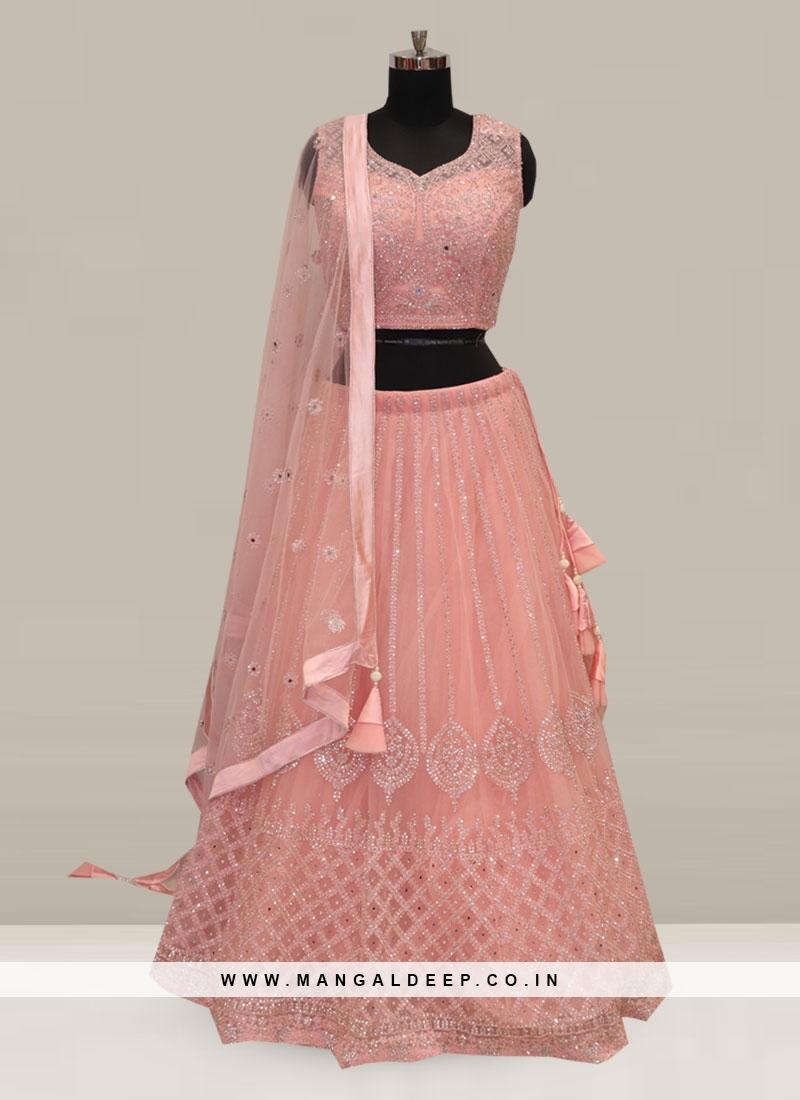 Stunning Pink Color Festive Wear Embroidered Lehenga Choli