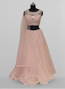Stunning Pink Color Function Wear Lehenga Choli