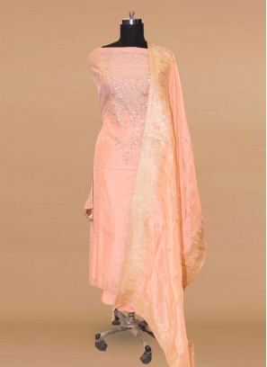 Stunning Pink Color Party Wear Designer Salwar Suit