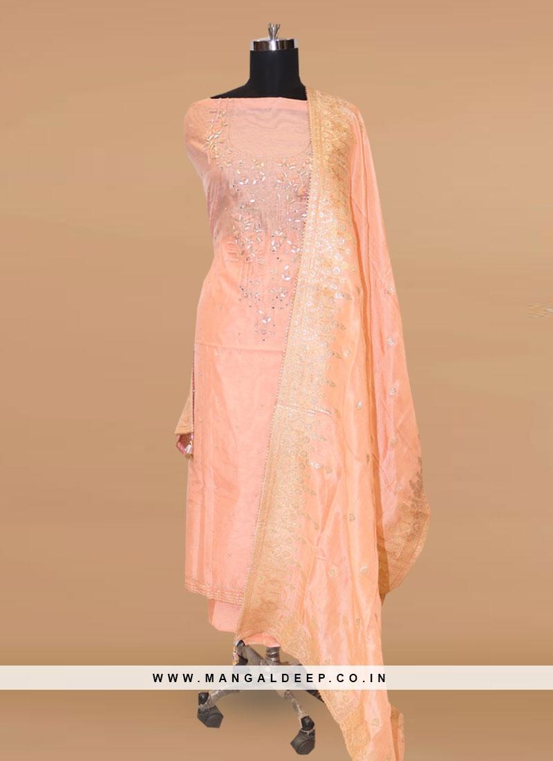 Stunning Pink Color Party Wear Designer Salwar Suit