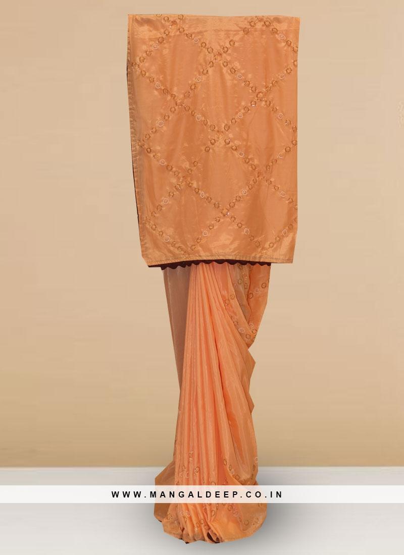 Stunning Pink Color Party Wear Designer Saree