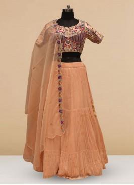 Stunning Pink Color Silk Lehenga Choli