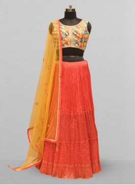 Stunning Red Color Function Wear Lehenga Choli