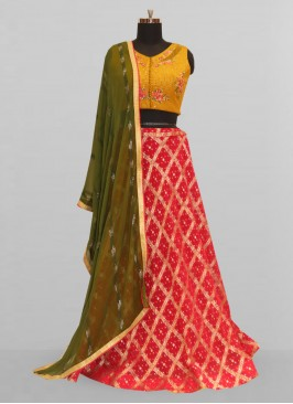 Stunning Red Color Function Wear Lehenga Choli