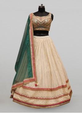 Stunning White Color Festive Wear Designer Lehenga Choli