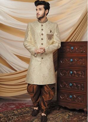 Vintage Beige Color Indo western Set