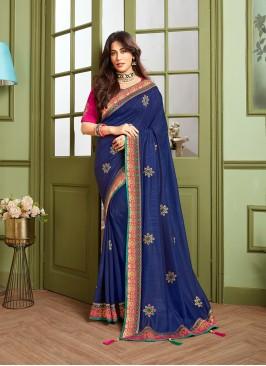 Violet Color Gorgeous Saree