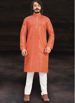 Vivacious Orange Kurta Set