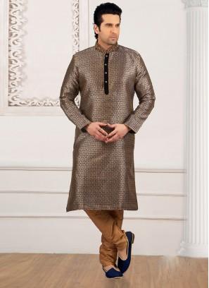 Wedding Function Wear Beige Color Kurta Payjama