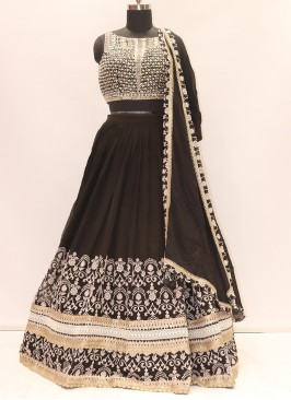 Wedding Function Wear Black Color Designer Lehenga Choli