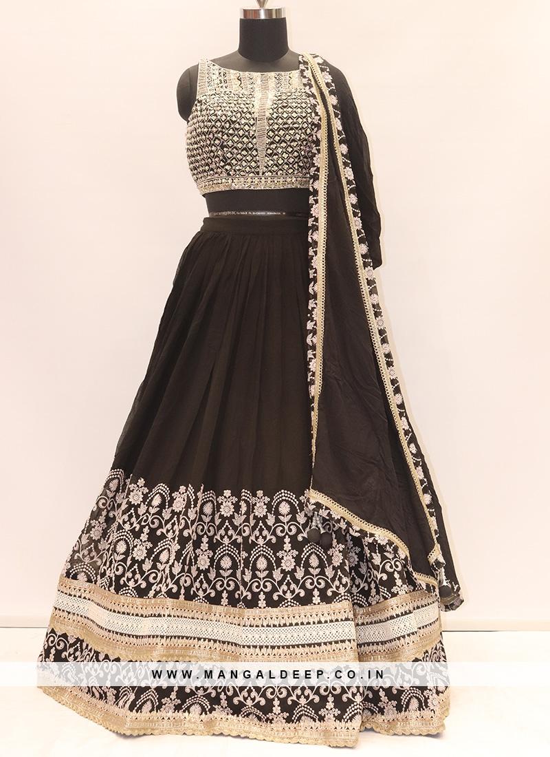 Wedding Function Wear Black Color Designer Lehenga Choli