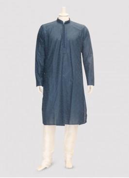 Wedding Function Wear Blue Color Kurta Pajama