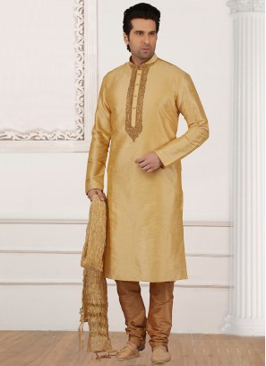 Wedding Function Wear Cream Color Kurta Payjama