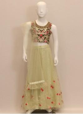 Wedding Function Wear Designer Chaniya Choli In Green Color