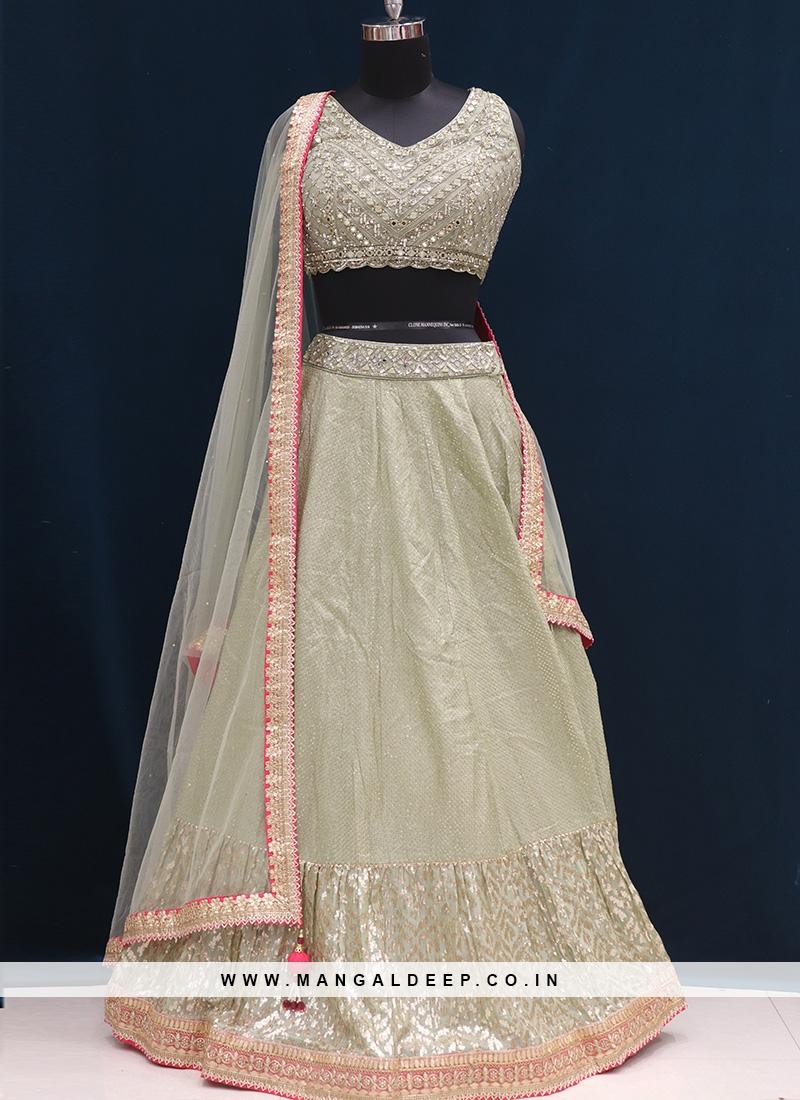 Wedding Function Wear Green Color Designer Lehenga Choli