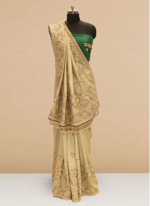 Wedding Function Wear Green Color Silk Saree