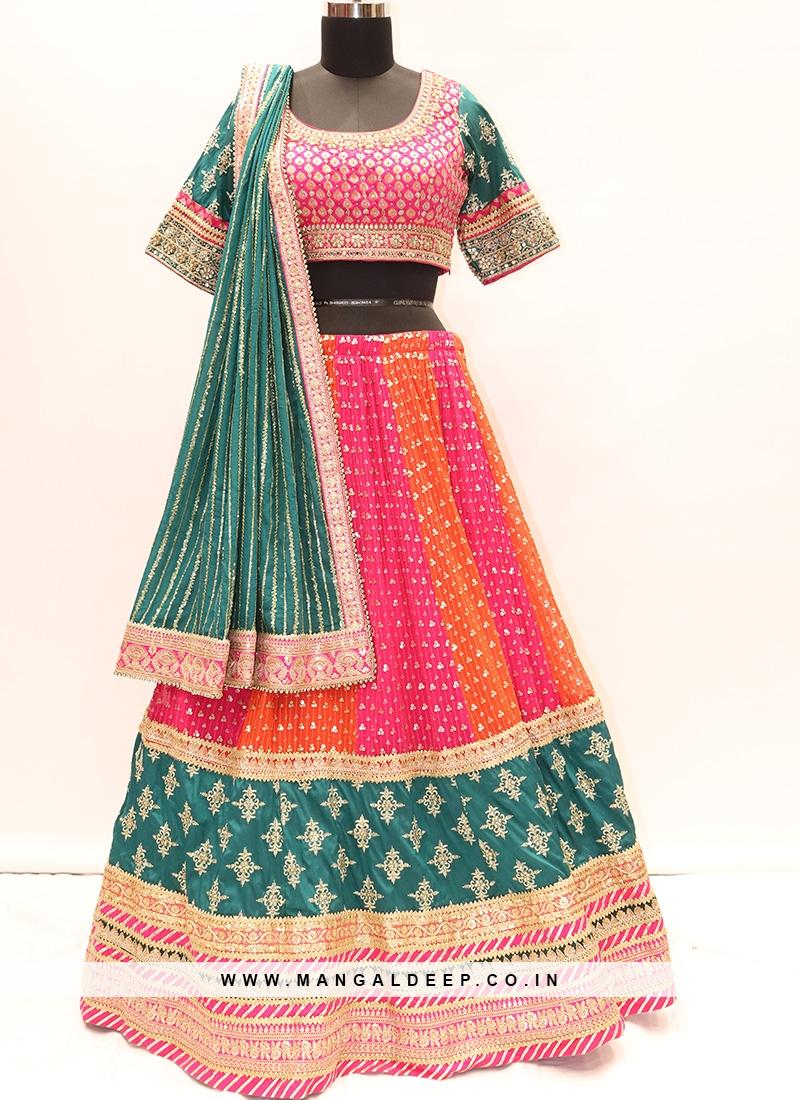 Wedding Function Wear Multi Color Designer Lehenga Choli
