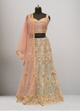 Wedding Function Wear Multi Color Lehenga Choli
