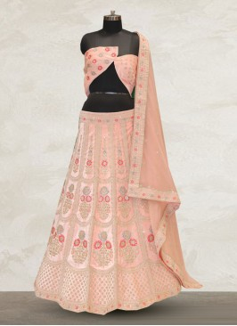 Wedding Function Wear Pink Color Designer Lehenga Choli