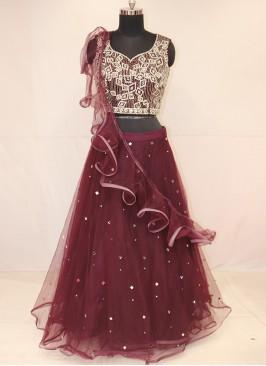 Wedding Function Wear Purple Color Lehenga Choli