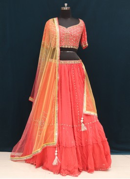 Wedding Function Wear Red Color Designer Lehenga Choli