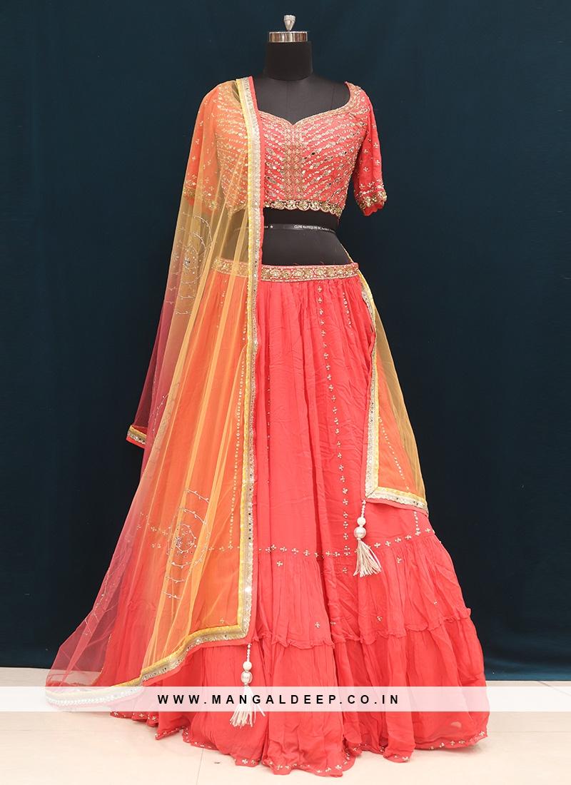 Wedding Function Wear Red Color Designer Lehenga Choli