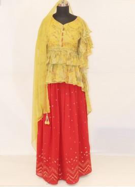Wedding Function Wear Red Color Lehenga Choli