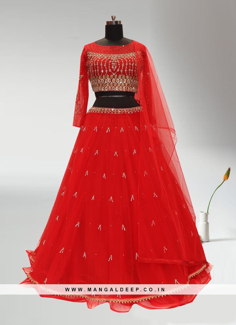 Wedding Function Wear Red Color Lehenga Choli