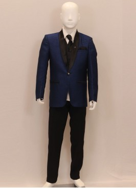 Wedding Wear Blue Color Kids Blazer