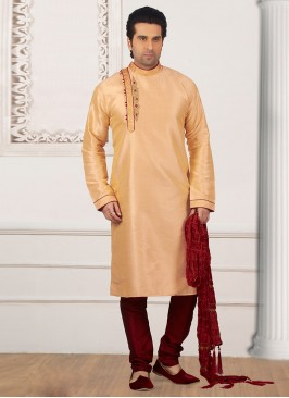 Wedding Wear Fancy Kurta Payjama In Cream