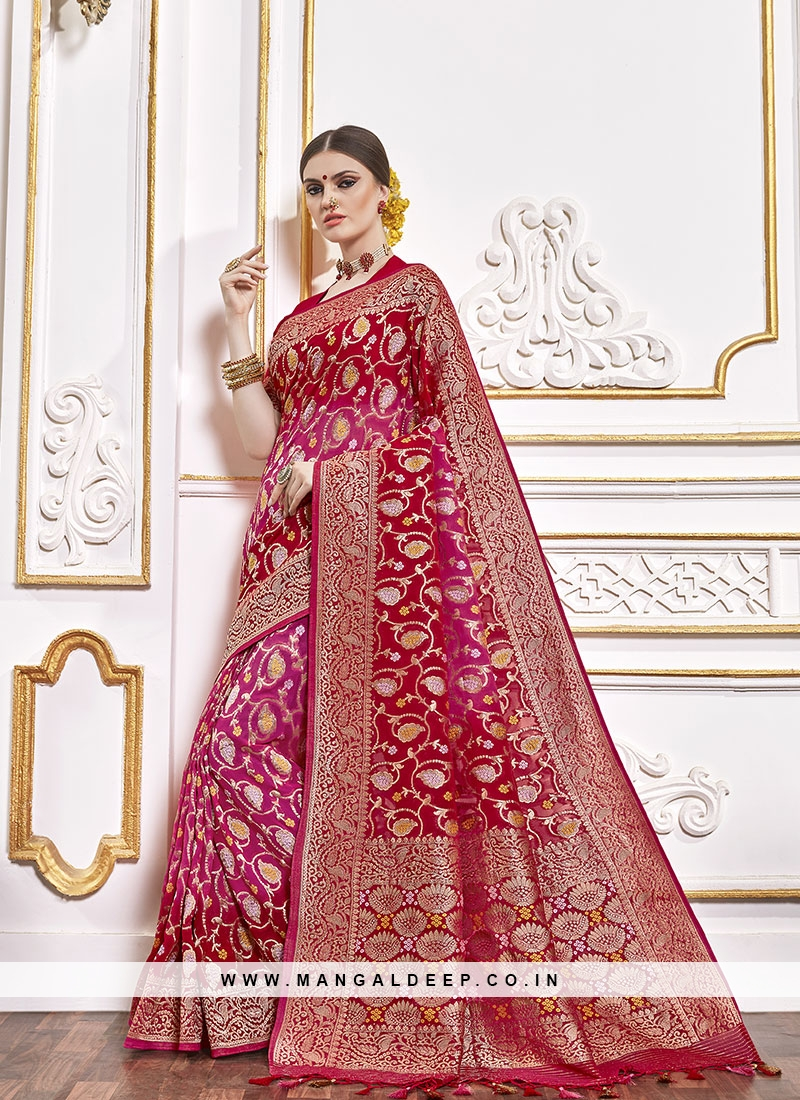 Wedding Wear Saree In Red Color