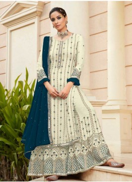 White Color Embroidered Sharara For Girl