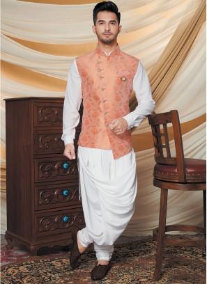White Color Kurta With Jacket