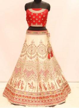 White Color Silk Designer Lehenga Choli