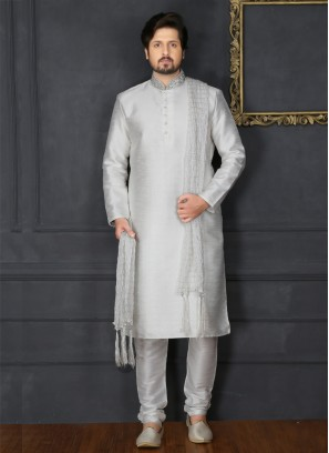 White Embroidered Kurta Pajama