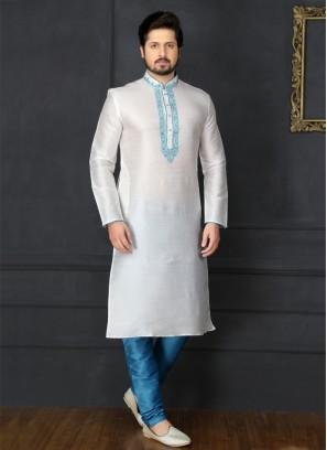 White Embroidered Kurta Pajama